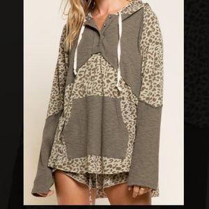 POL Leopard Hoodie